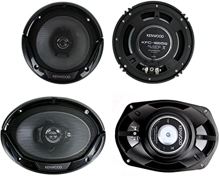 """Kenwood KFC-1665S + KFC-6965S 6.5"""" 300W 2-Way Plus (2) 6x9 400W 3-Way Car Speakers"""
