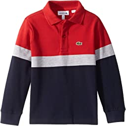 Long Sleeve Color Block Pique Polo (Infant/Toddler/Little Kids/Big Kids)