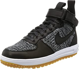 Lunar Force 1 Flyknit Workboot Mens Boots c_855984 (11, BLACK/WHITE-WOLF GREY)
