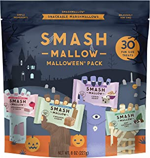 SMASHMALLOW Halloween Fun Size Variety Pack | Snackable Marshmallows | Assorted Flavors | Non-GMO | Organic Cane Sugar | 30 Individual Treats