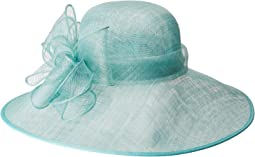 DRS1022 Sinamay Hat w/ Band & Multi Layer Bow
