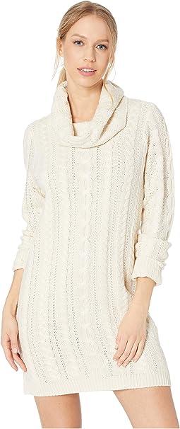 Alaska Cable Knit Sweater Dress