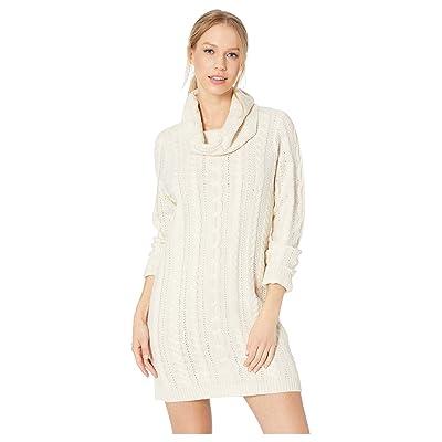BB Dakota Alaska Cable Knit Sweater Dress (Oatmeal) Women