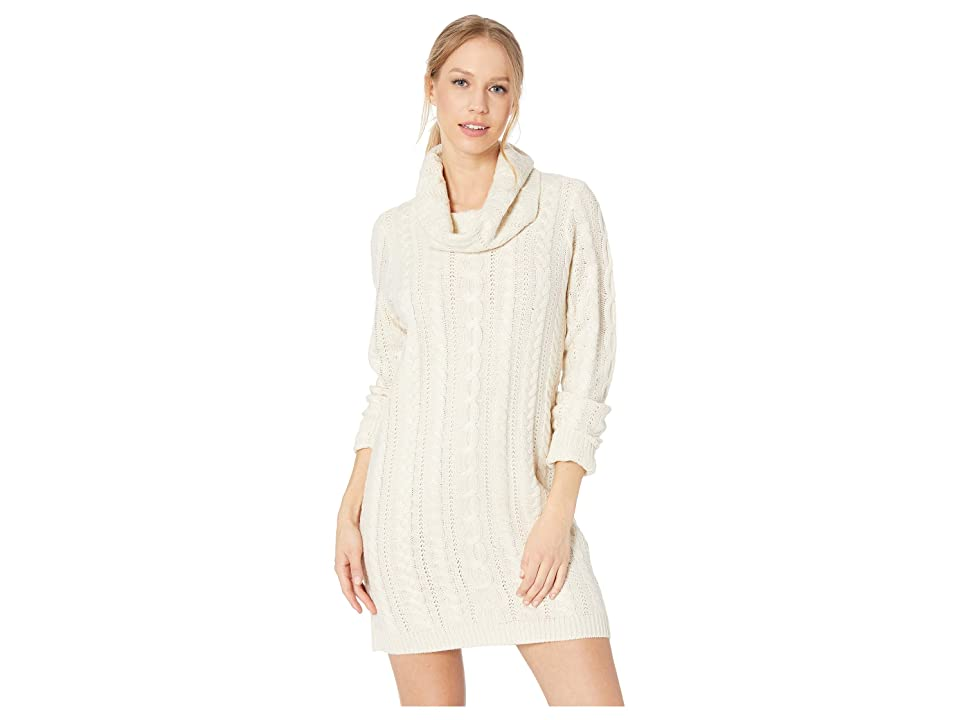 BB Dakota Alaska Cable Knit Sweater Dress (Oatmeal) Women