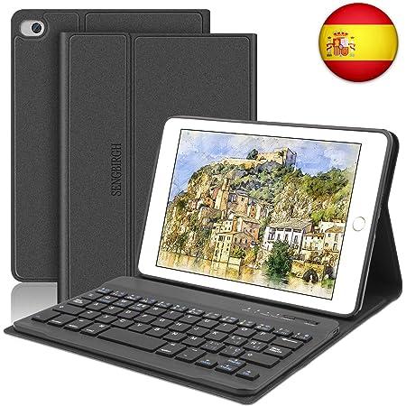 SENGBIRCH Funda con Teclado para iPad Mini 5 2019 Funda Ultrafino con Teclado Bluetooth Inalámbrico Español Compatible con 7.9 Pulgadas iPad Mini ...