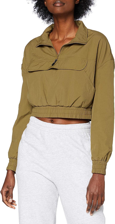 Urban Classics Ladies - Crinkle Pull Over Windbreaker Jacket - M