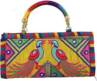 Kuber Industries Polyester Handcrafted Embroidered Women Handbag (CTKTC4347)