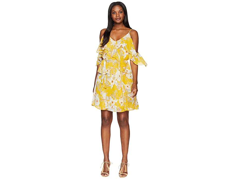 B Collection by Bobeau Stello Ruffle Tank Dress (Sunshine Floral) Women's Dress