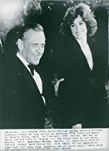 Vintage photo of William Holden and Stefanie Powers arrive at the American Film Institute party in Beverly Hills