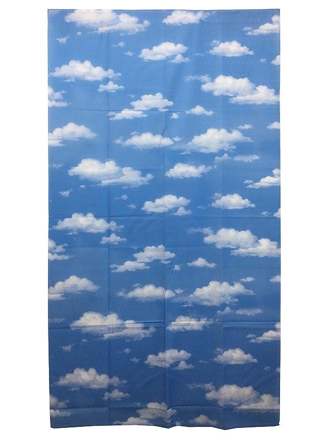 ピックピストルフライカイトのれん 雲 くも 青空 ブルー 子供部屋 かわいい 空模様 晴れ 春 夏 涼しい