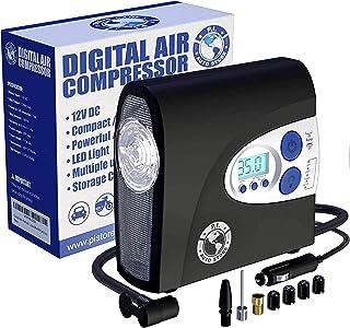 P.I. AUTO STORE Premium Air Compressor Tire Inflator, Portable 12V DC Electric Pump, Auto Shut Off, Digital Pressure Gaug...