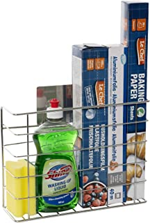 Kitchen Cupboard Storage Organiser - Perfect for Tin Foil, Cling Film and Cleaning Accessories Or as an Undersink Storage ...