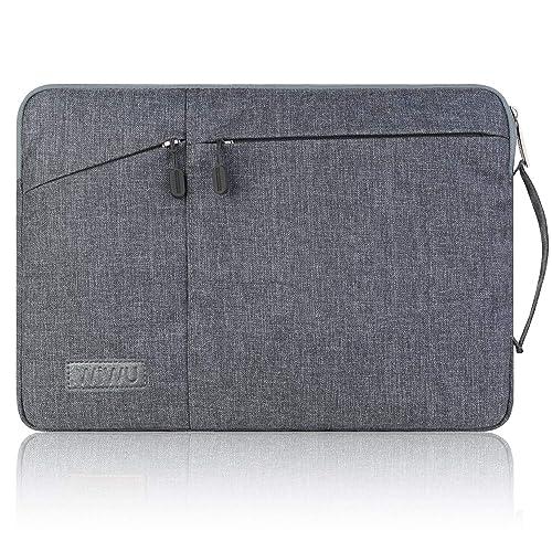 WIWU PCインナーバッグ 裏起毛 360°保護 衝撃吸収 防水 11.6~12インチ pcケース ノートパソコンケース MacBook/surface pro/iPad/ラップトップ/ウルトラブック/タブレット用 PCバッグ (12インチ グレー)