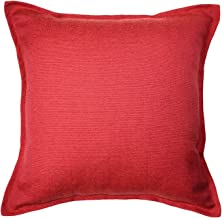 McAlister Textiles Savannah Pillow Cover | Red Decorative Plain Throw Scatter Sofa Cushion Sham | Size - 24 x 24 Inches
