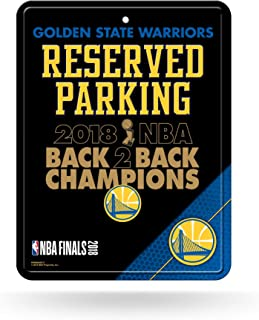 Rico Industries NBA Golden State Warriors 2018 Basketball Champions 8-Inch by 11-Inch Metal Parking Sign Décor