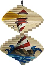product image for Lighthouse Wood Wind Spinner - Made in USA
