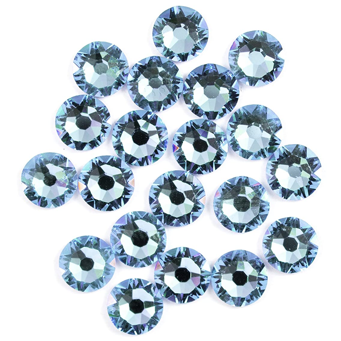 Swarovski - Create Your Style Hotfix 5mm Aquamarine 3 packages of 20 Piece (60 Total Crystals)