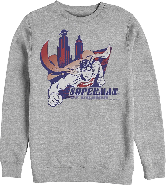 Fifth Sun Men's Superman Sweatshirt New Bombing free shipping popularity City's Hero