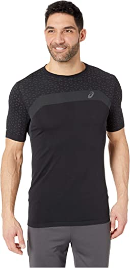 Short Sleeve Seamless Textured Top