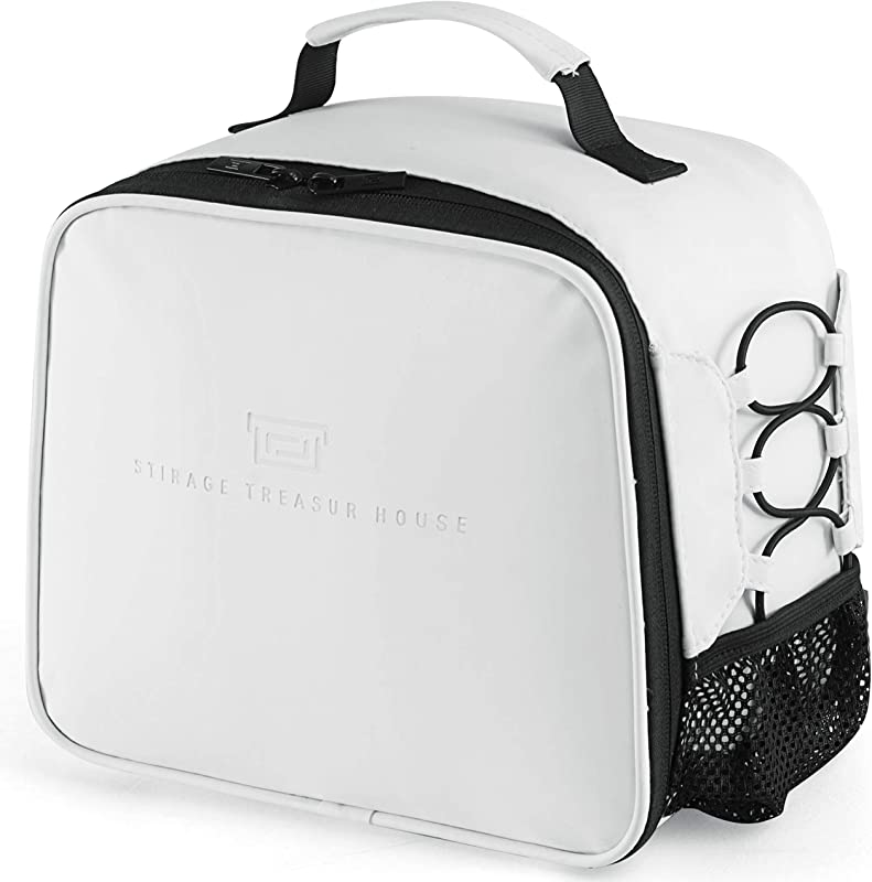 Lunch Box Insulated Lunch Bag For Men Women Leakproof Thermal Reusable Lunch Tote For Adult Kids Lunch Cooler For Office Work Outdoor Picnic By Soundance White