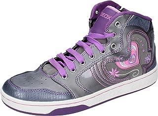 Geox Sneaker Bambina Pelle Sintetica Grigio