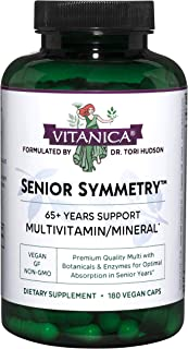 Vitanica, Senior Symmetry, 65 Years and Up Multivitamins and Minerals, Vegan, 180 Capsules