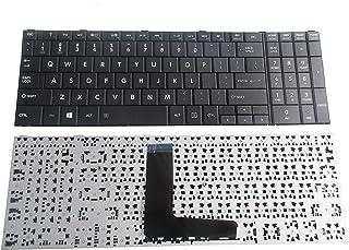 لوحة مفاتيح بديلة للكمبيوتر المحمول SUNMALL متوافقة مع Toshiba Satellite C50-B C50A-B C50D-B C55-B C50DT-B C50T-A R50-B Fi...