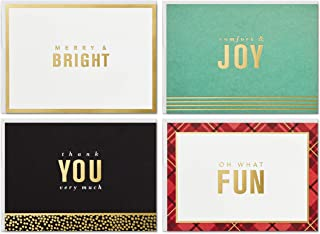Hallmark Boxed Christmas Cards Assortment with Organizer Box and Dividers (4 Designs, 24 Cards with Envelopes)