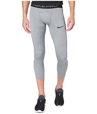 Nike Nike Pro Tights 3/4 (Smoke Grey/Light Smoke Grey/Black) Men