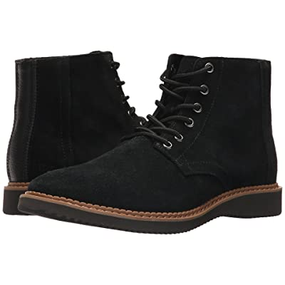 TOMS Porter Water-Resistant Boot (Black Suede) Men