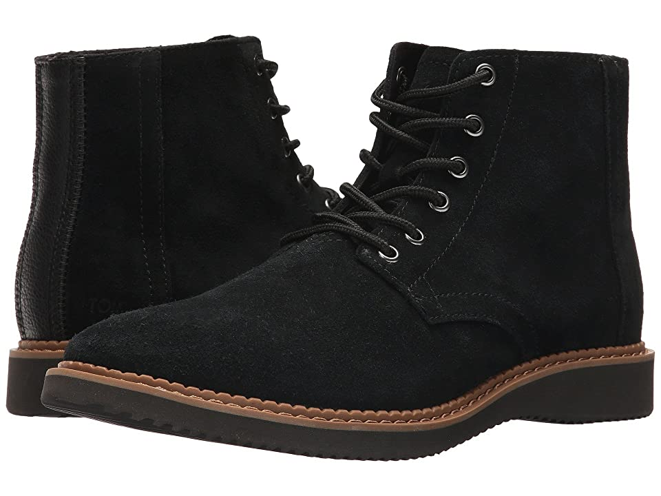TOMS Porter Water-Resistant Boot (Black Suede) Men
