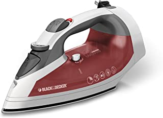 Black & Decker ICR07X Xpress Steam Cord Reel Iron, White/Red