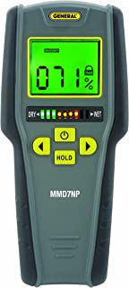 General Tools MMD7NP Pinless, Non-Invasive, Non-Marring, Digital Moisture Meter, Water..
