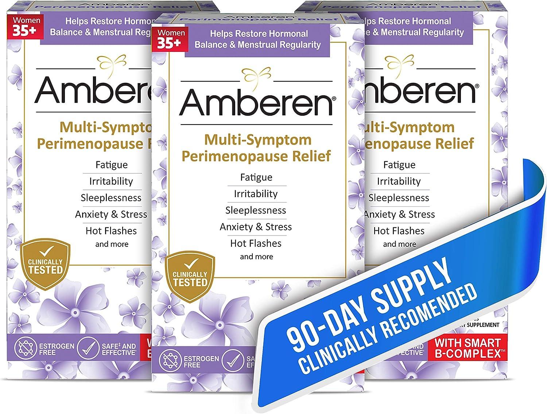 Super intense SALE Large-scale sale Amberen Peri: Safe Multi-Symptom Perimenopause Helps Re Relief
