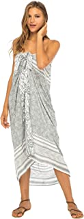 Back From Bali Womens Beach Dress Sarong Bikini Swimsuit Cover up Wrap with Easy Built-in Ties