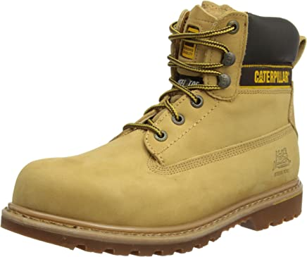 Caterpillar Holton S3 HRO SRC/Mens Honey Safety Boots : boots