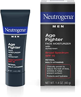 Neutrogena Age Fighter Anti-Wrinkle Retinol Moisturizer for Men, Daily Oil-Free Anti-Aging Face Lotion with Retinol, Multi...