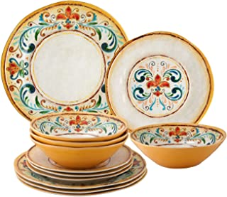 Melamine Tuscany Dinnerware Set of 12