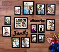 Painting Mantra Beautiful Family Memories Set Of 14 Individual Wall Photo Frame (6-6X8, 6-4X6, 2-8X10) With Mdf Plaque