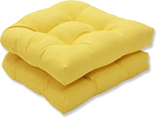 Yellow Outdoor Seat Cushion Set of 2 Replacement Dining Patio Yard Chair Pads