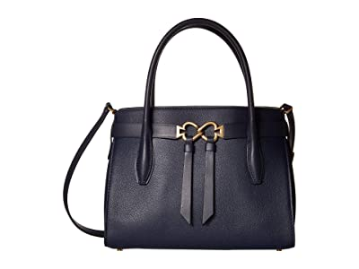 Kate Spade New York Toujours Medium Satchel (Blazer Blue) Bags