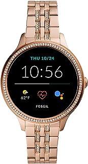 Ny Fossil kvinnors Gen 5E pekskärm smartklocka med högtalare, hjärtfrekvens, GPS, NC och smartphone-aviseringar