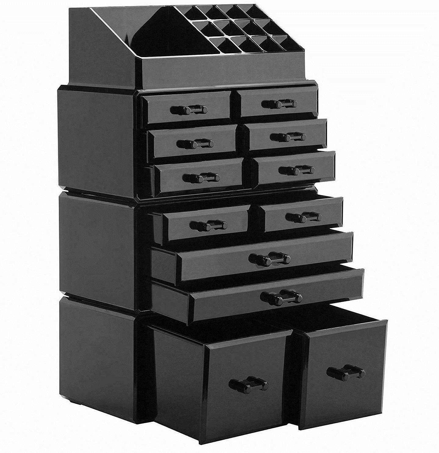 HLWL Large Cheap mail order specialty store 12 Drawers Cosmetic Limited price A Clear Jewelry Storage Organizer