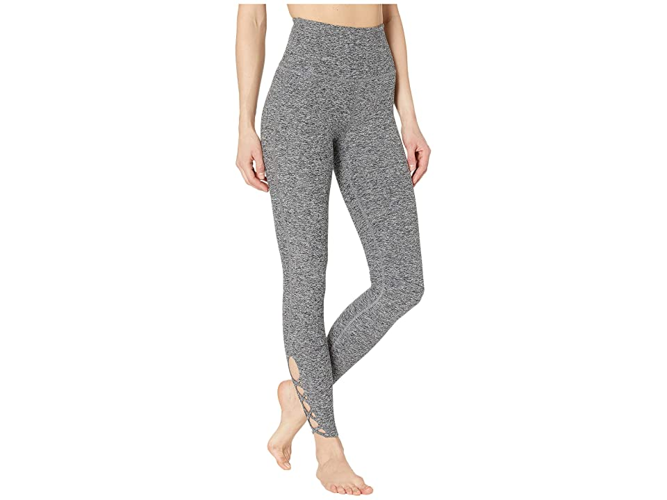Beyond Yoga Spacedye Crossed My Mind High-Waisted Midi Leggings (Black/White Spacedye) Women