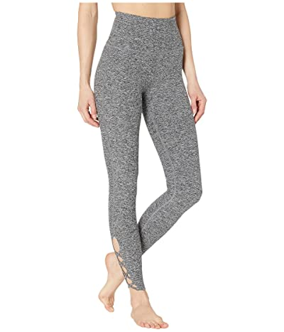 Beyond Yoga Spacedye Crossed My Mind High-Waisted Midi Leggings (Black/White Spacedye) Women