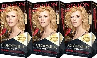 Revlon Colorsilk Buttercream Hair Dye, Extra Light Natural Blonde, Pack of 3