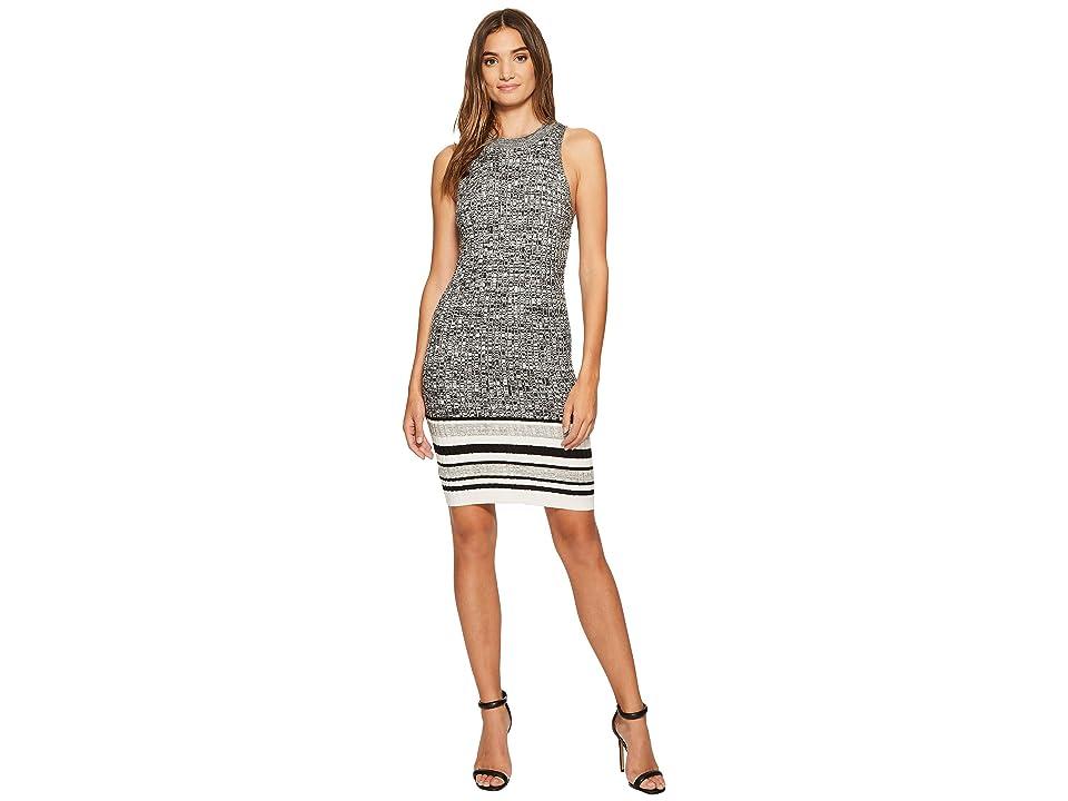 Splendid Sweater Dress (Marled Black/Natural/Heather Slate) Women
