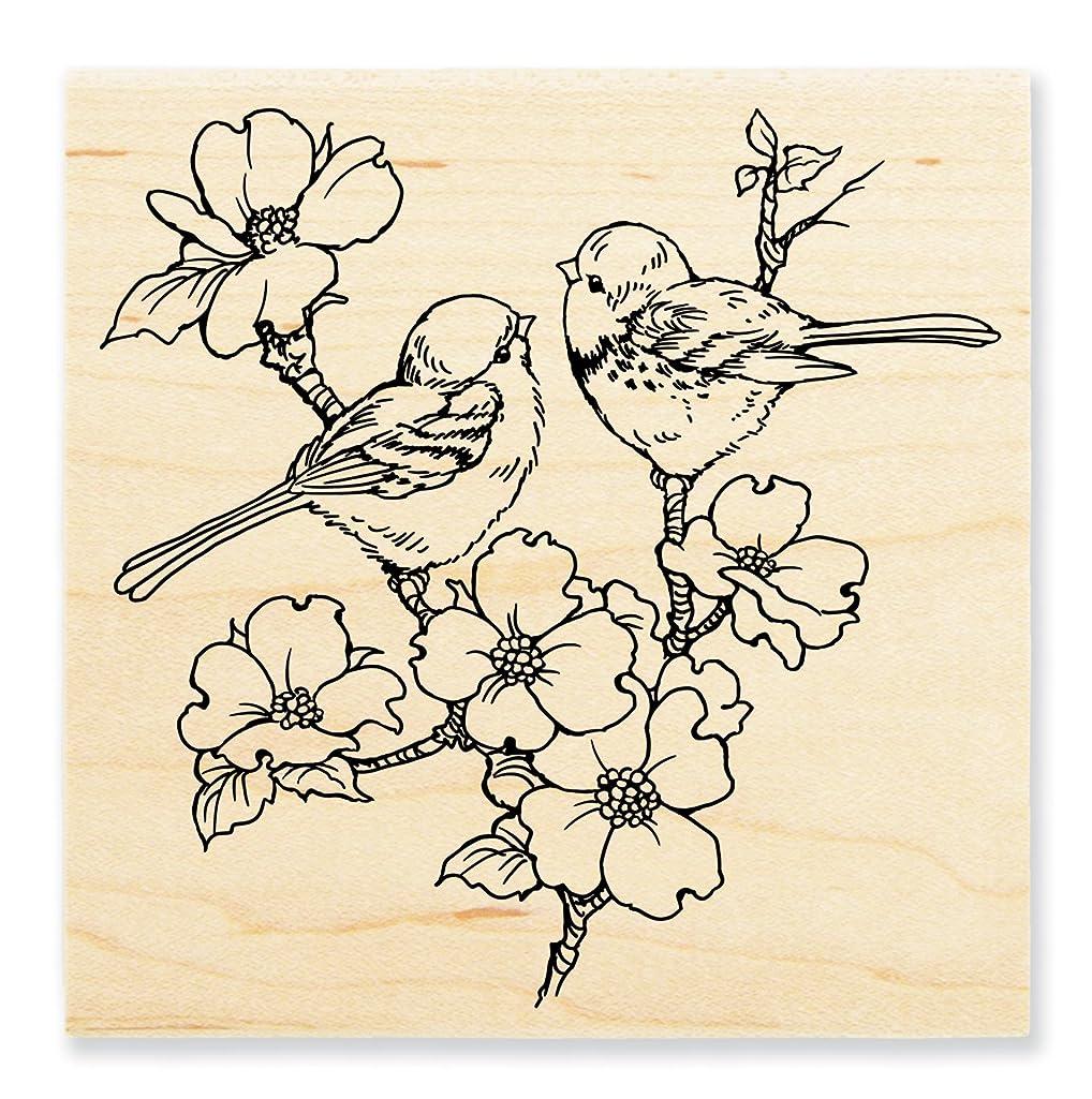 Stampendous W196 Wood Stamp, Dogwood Birds