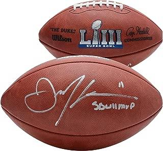 Julian Edelman New England Patriots Autographed Super Bowl LIII Champions Duke Football with