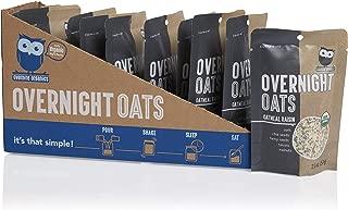Overnite Organics Oatmeal Raisin Overnight Oats, USDA Organic, Vegan Friendly, Good Source of Protein, High Fiber, 2oz (Pack of 10)
